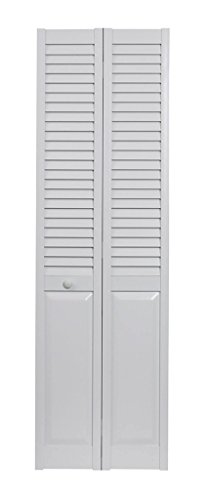 LTL Home Products SEALP30 Seabrooke PVC Louvered & Panel Interior Bifold Door, 78.625