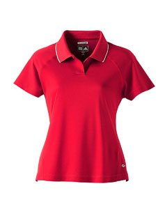 Adidas Ladies ClimaCool Mesh Polo - University Red/White A09 L