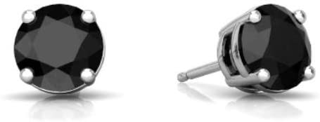 Black Onyx Stud Earrings Valentines Gift Black Stone Gold Studs 6 mm Round Black Onyx Stud Handmade Stud 18k Gold Plated Stud Earring