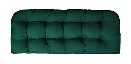 (RSH Decor Sunbrella Canvas Forest Green Love Seat Cushion - Indoor/Outdoor 1 Tufted Wicker Loveseat Settee Cushion - Green)