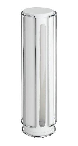 Wenko 5621100 Turbo-Loc Universal Kaffeepad Halter mit Aromadose - Befestigen ohne bohren, verchromtes Metall, 8 x 30 x 8 cm, Silber glänzend