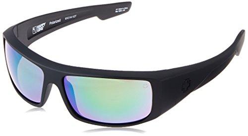 Spy Optic Logan Matte Wrap Polarized Sunglasses, 60 mm (Black) by Spy