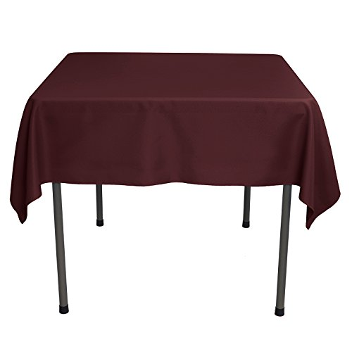 54 X 54 Tablecloth - Remedios Square Tablecloth Solid Color Wrinkle-Free Polyester Table Cloth for Indoor and Outdoor Wedding Party Restaurant Banquet Home Dinner (Burgundy, 54x54 inch)