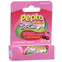 Pepto To Go Chrry Chew 12 Size 12ct Pepto To Go Cherry Chewable 12ct (Chewable Cherry Bismol Pepto Tablets)