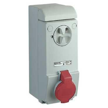 Schneider 83035 Presa Ib Parete Ip44 3Pt 16A 380V, Bianco