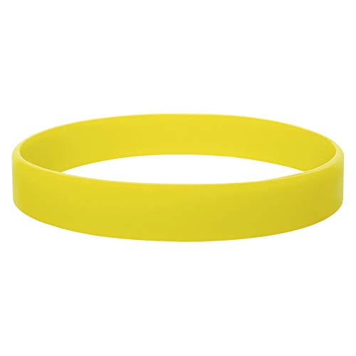 GOGO Silicone Wristbands, 120 PCS Rubber Bracelets for Kids, Party Suppliers-Yellow