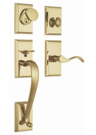 Rockwell Premium Solid Brass Savoy Single Cylinder Entry Door Lock Handle Set Durable door hardware  sc 1 st  Amazon.com & Rockwell Premium Solid Brass Savoy Single Cylinder Entry Door Lock ...