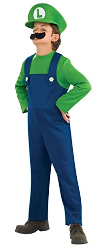 Super Mario Bros Luigi Toddler Large (Mario And Luigi Costumes Kids)