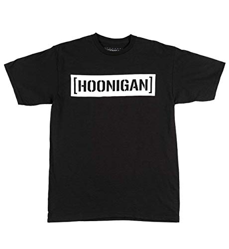 Hoonigan Censor Bar Short Sleeve Graphic T-Shirt, Black and White | 100% Cotton Tee Shirt | Perfect for Car, Truck or Drifting Enthusiasts, Mechanics and Gear Heads from Hoonigan