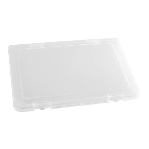 M-Aimee Sets of 2 Clear File Cases/Portable Project Case with Buckle (14 x 10.6 x 1.8inch)
