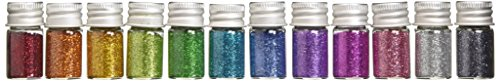DOODLEBUG Metallic Sugar Coating Glitter Bottles, 5gm, Assortment, 12-Pack
