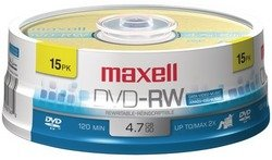 Maxell - 4.7GB DVD-RW (15-ct Spindle) by Hippo-Deals