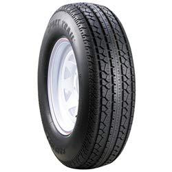 Carlisle 4.80-8 Sport Trail TL 8x3.75 (4/4 Lug Pattern) Solid Rim Design, White Painted Finish Trailer Tire & Rim Combo