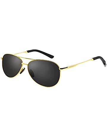 65ca0292b62 WHCREAT Classic Unisex Polarized Sunglasses with Ultra-Light Adjustable Metal  Frame HD Lens for Men