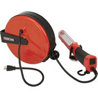 Ironton Retractable Cord Reel with Worklight - 30ft., 16/3, LED Light