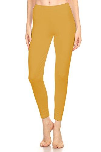 Capris Classic Stretch (The Classic Women's Stretch Jersey Sports Yoga Full Length Leggings Pants Plus (2XL, Mustard))