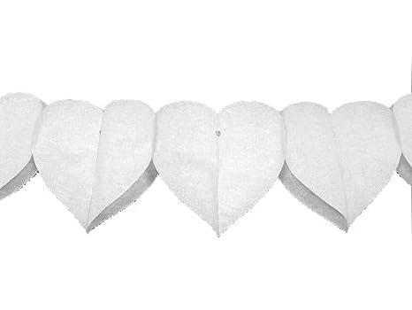 Weiße Herz-Girlande mit Hochzeitspaar 6 m