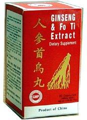 Ginseng and Fo Ti Extract (Ren Shen Shou Wu Wan) 30 Capsules X 6