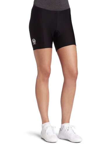 Canari Cyclewear Women's Micro Short Padded Cycling Short (Black, Small)