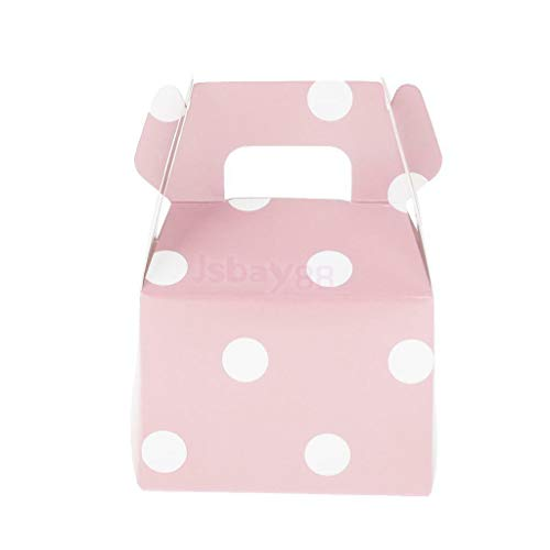 - Polka Dot Candy Baby Shower Party Boxes Wedding Favour Carrier Box Pack of 12 |Color - Pink|