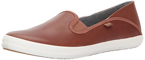 Keds Women's Crashback Leather Fashion Sneaker,Cognac Brown,8 M US