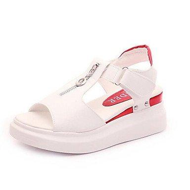 Frauen 039 s Sandalen Komfort pur Frühling Sommer Casual Comfort Silber Schwarz Weiß 2-in-2 3 4 inWhiteUS5.5 EU36 UK3.5 CN 35
