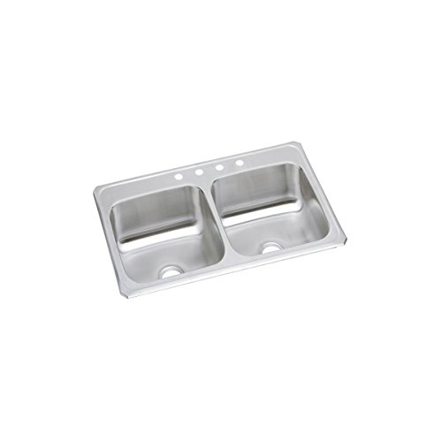 Elkay CR43224 Celebrity Equal Double Bowl Drop-in Stainless Steel Sink