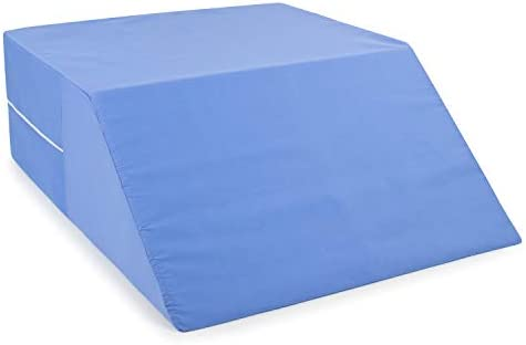 DMI Ortho Bed Wedge Elevated Leg Pillow, Supportive Foam Wedge Pillow for Elevating Legs, Improved Circulation, Reducing Back Pain and More, Blue