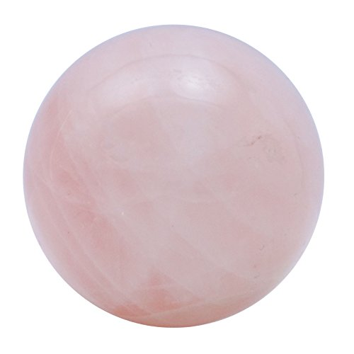 Harmonize Sphere Ball Balancing Pink Rose Quartz Stone Reiki Healing Stone Table Decor (Rose Quartz Sphere)