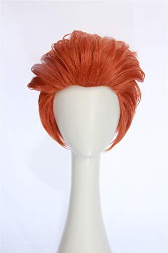 HangCosplay:Orange Bangless Short Adult Layered Cosplay Moira Wig Inspired by -