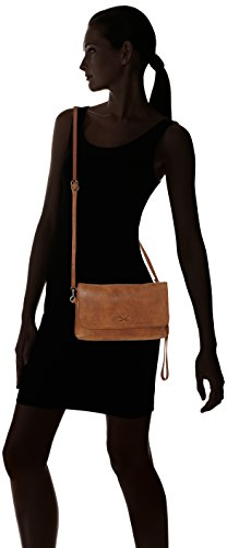 Sansibar Clutch - Carteras de mano Mujer Marrón (Cognac)