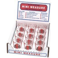 Mini Measure Multi-Purpose Measuring Cup Shotglass, Black