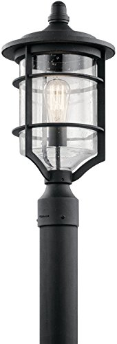 Kichler 49129DBK Royal Marine Outdoor Post, 1 Light Incandescent 150 Watts, Distressed Black