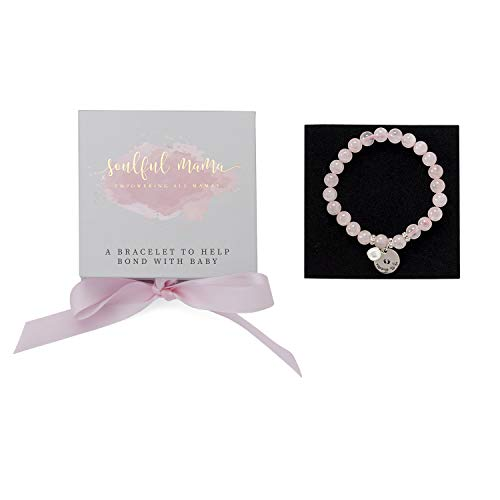 - Mommy to Be Gift: Rose Quartz - Baby Bonding Bracelet - Ideal Pregnancy Gift for Mom to Be