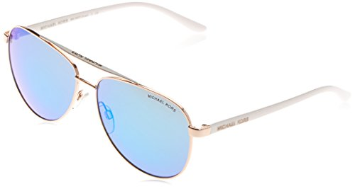 Michael Kors Women's Hvar Rose Gold/White Sunglasses (Sunglasses Michael Kors)