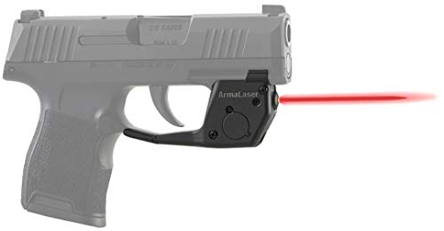- ArmaLaser TR27 SIG Sauer P365 Ultra Bright Red Laser Sight Grip Activation