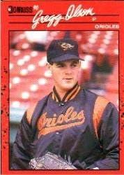Amazon Com 1990 Donruss Baseball Card 377 Gregg Olson Collectibles Fine Art