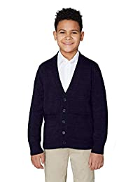 French Toast Little Boys' V-Neck Anti-Pill Cardigan
