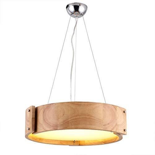 HBLJ Lámpara de techo LED de madera Lámpara de techo Lámpara ...