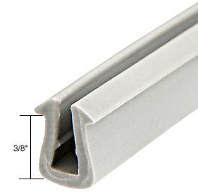 C.R. Laurence Glazing Vinyl 3/8'' Channel Depth 11/32'' to 3/8'' Metal Opening - 1000 Roll By HandsOn by CR Laurence