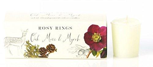Rosy Rings Set of 3 Hand-Poured Votive Candles (Oak Moss & Myrrh)