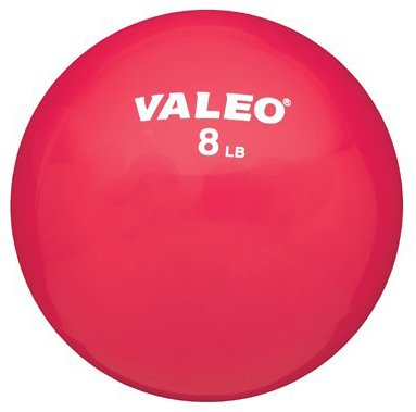 Valeo 8-Pound Fitness Ball With Soft Vinyl Covering And Included Exercise Chart, 5-Inch Diameter