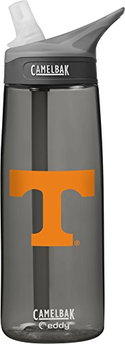 CamelBak NCAA Tennessee Volunteers Unisex Eddy 75L Collegiate Water Bottle, Charcoal, 75 - Bottle Bpa Camelbak Free
