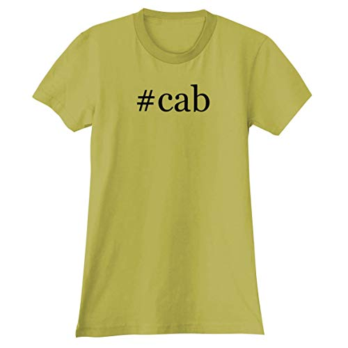 The Town Butler #cab - A Soft & Comfortable Hashtag Women's Junior Cut T-Shirt, Yellow, X-Large