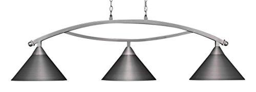 Toltec Lighting 873-BN-420 Bow 3 Light Bar with 14