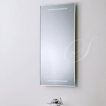 Brandneu Badspiegel BELEUCHTET 80x40 cm Wandspiegel BELEUCHTUNG Spiegel  AZ71