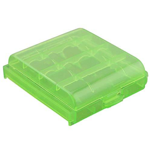 Pack of 9 PCS AA/AAA Battery Storage Hard Case Box -Green