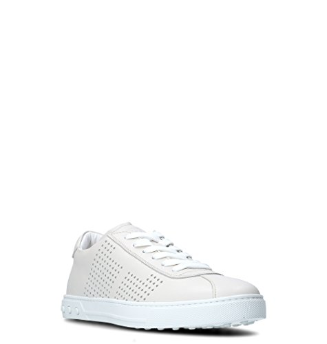 Chaussures De Sport En Cuir Blanc Hommes Tods