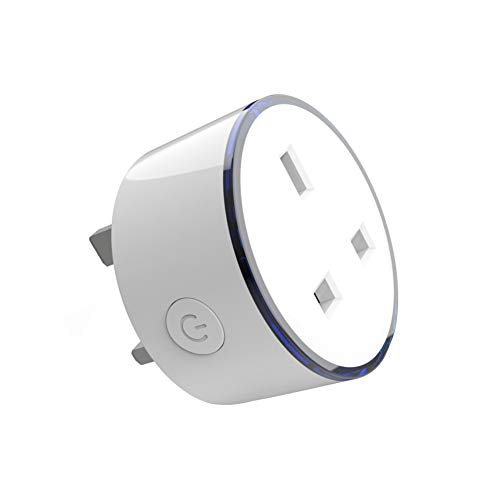 WIFI Smart Timer Plug Compatible with Alexa,Google Home Voice Remote Control 8 RGB Scene Light Smart Socket No Hub Required for Wireless Timer Switch(UK Plug) (Best Smart Plug Uk)