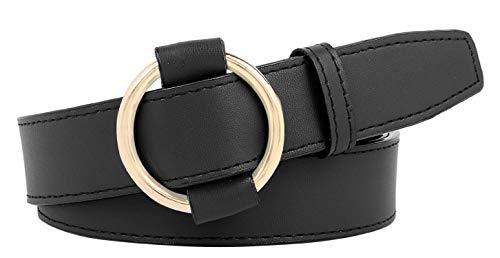 Zacharias Women's Faux Leather Belt (Black; Free Size B-2)